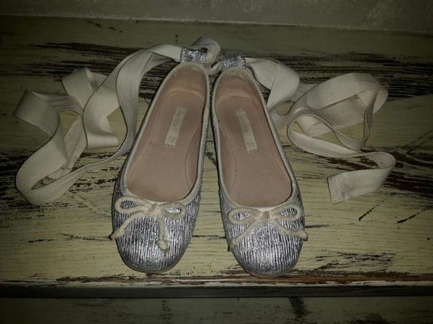 Zara srebrne balerinki baletki r. 27 jak nowe