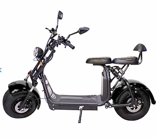 Scooter Elétrica XI 2000W / 18.2Ah Preto - CITYCOCO