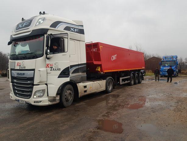 Usługi transportowe płodów rolnych/materiałów/ naczepa wywrotka 40 m3