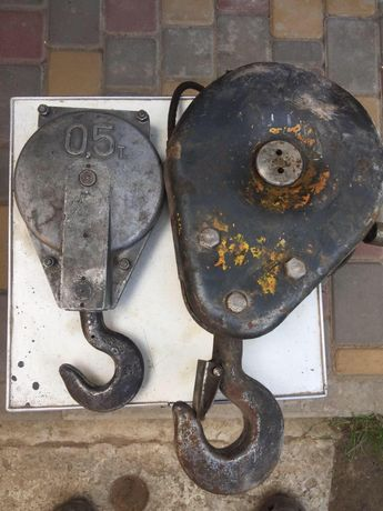 Каретка для тельфера на 0,5 тонны, крюк на 2 тонны