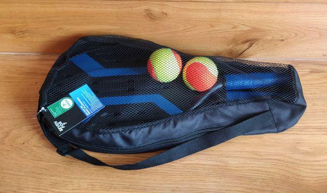 Zestaw do tenisa plażowego 4 w 1 paletki - nowy