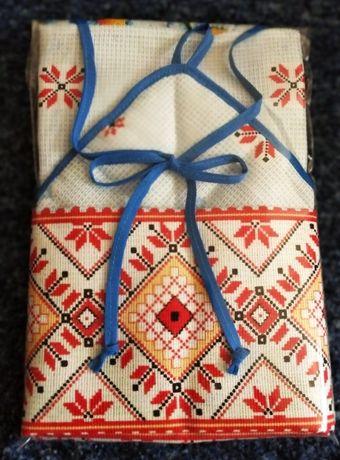"""Подарочный набор кухонный """"Господарочка-1"""" фартук,полотенце,прихватка"""