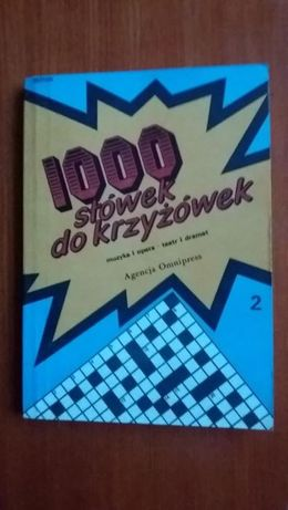 książka - 1000 słówek do krzyżówek i inne