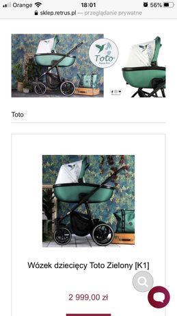 Wózek 2w1 Retrus Totto butelkowa zieleń
