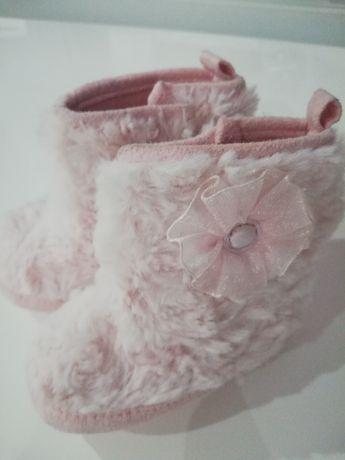 Buciki dziewczece cieple  dl 11 cm