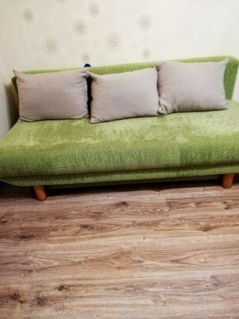 Duża Wygodna Kanapa Sofa rozkładana + Fotel i poduszki duże 195 cm BDB