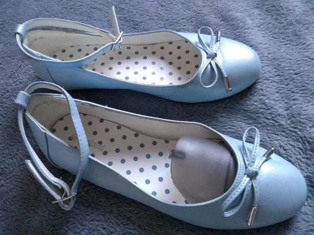 Baleriny baletki błękitne r. 34
