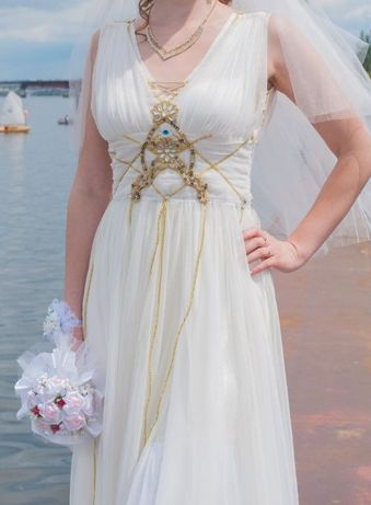 платье свадебное, нарядное, для дружки в греческом стиле размер 44-48