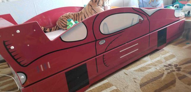 Ліжко машинка дитяче подвійне, ліжко автомобіль - для двох дітей