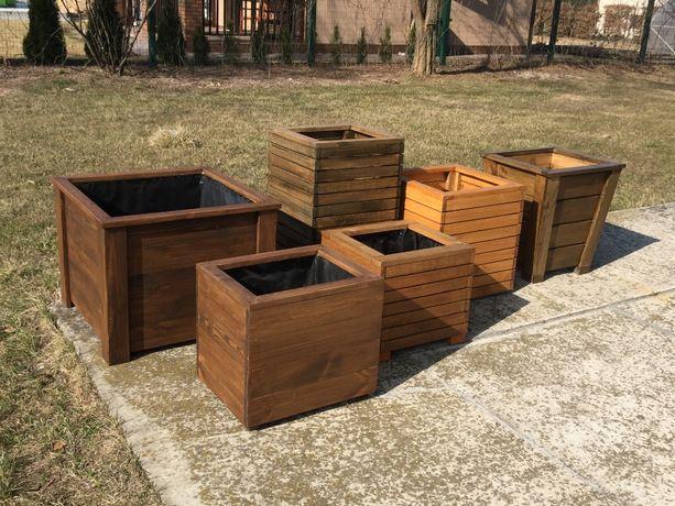 Кашпо деревянное, контейнер, вазон, ящик для растений