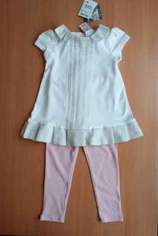 Новый детский нарядный костюм леггинсы и туника из США. Разм 2Т, 2 год