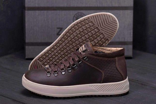 Мужские зимние кожаные кроссовки > зимние ботинки / обувь на меху