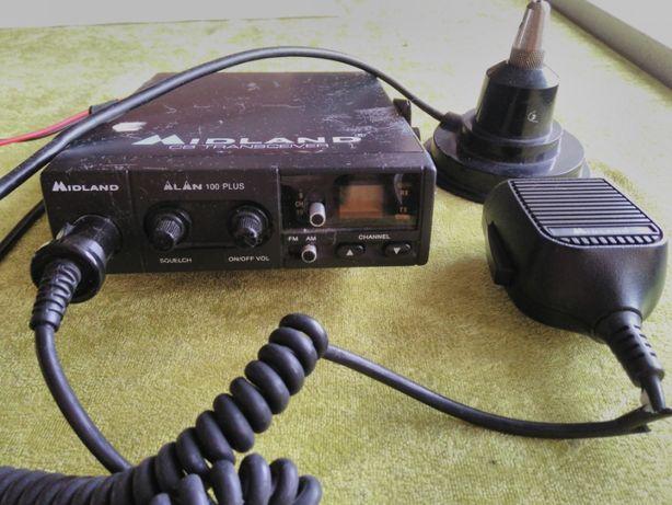 CB radio Midland Alan 100 plus z anteną