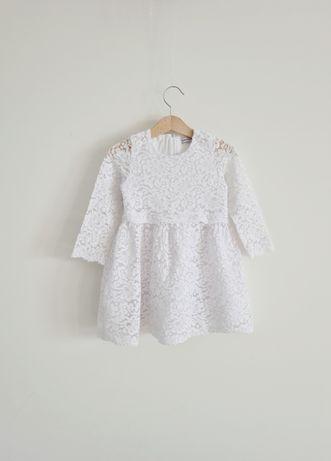 Biała sukienka koronkowa Reserved r 98