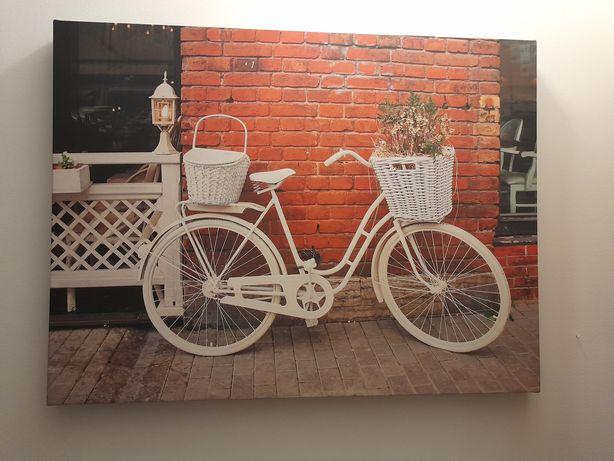 Obrazek obraz rower biały cegła ścienny