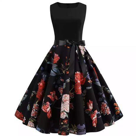Letnia sukienka Vintage bez rękawów