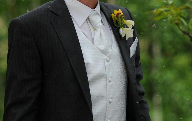 Sunset Suits kamizelka ślubna musznik chusteczka rozm. L