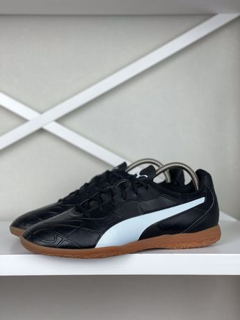 Футбольные футзалки Puma Monarch original 44 бампы копы черные 28.5см