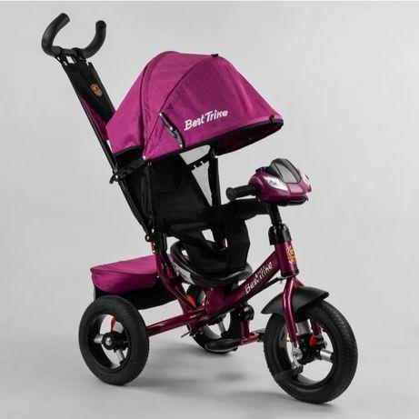 Детский трёхколёсный велосипед Best Trike мод. 3390. Надувные колёса