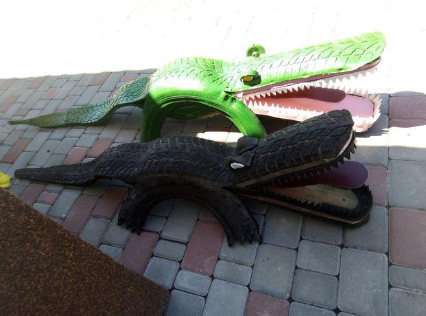 Крокодил з авторезіни
