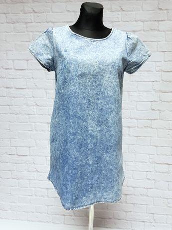 Sukienka tunika jeansowa, cienki jeans S/M