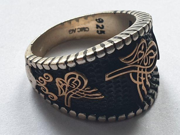 Srebrny sygnet pierścionek srebro 925. Rękodzieło