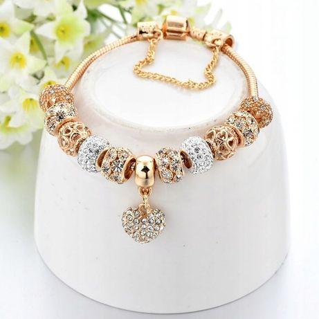 Bransoletka Modułowa Złota Do Pandora Charms Beads LIKWIDACJA SKLEPU