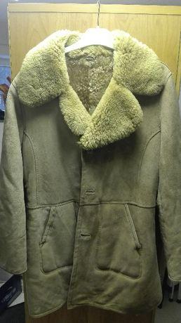 Kożuch, płaszcz, kurtka, naturalny L