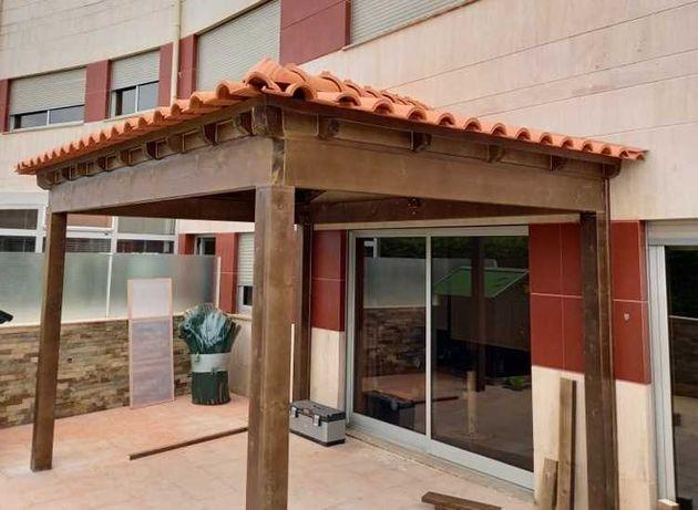 telheiro em madeira - Madeira&Conforto