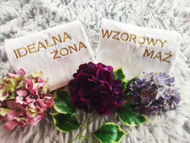 Nowe ręczniki de luxe z haftem  na ślub