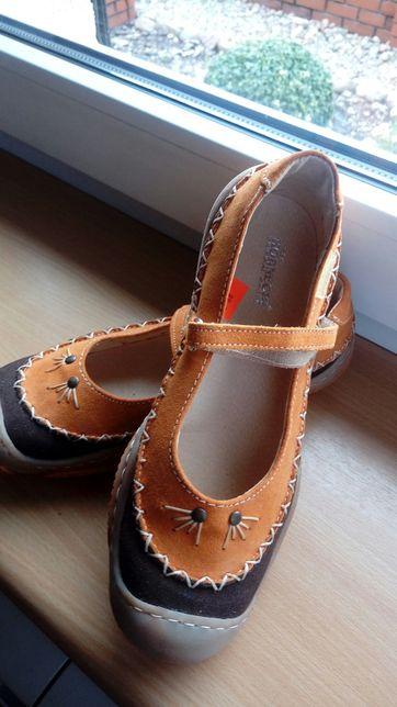 Buty z naturalnej skóry zamsz