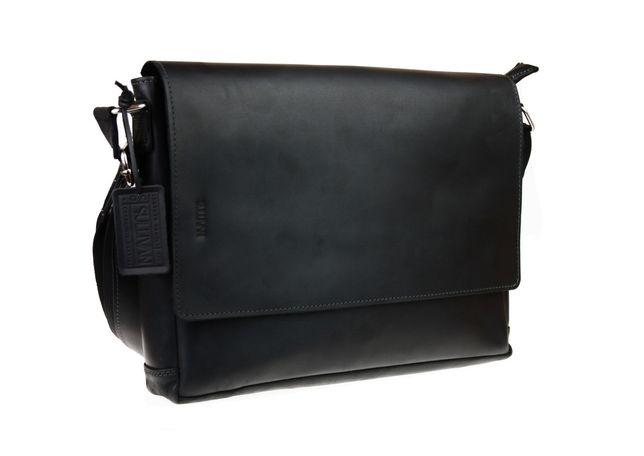 Кожаная мужская сумка А4 для ноутбука ручная работа натуральная кожа