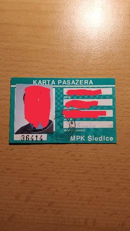 Kolekcjonesrka karta pasażera MPK Siedlce