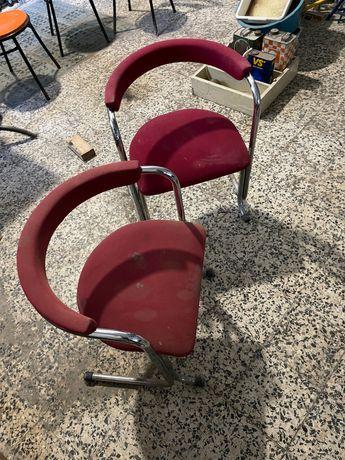 2 cadeiras DESIGN com estofo (INOX)