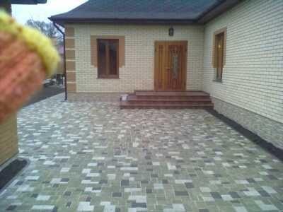 Укладка тротуарной плитки(благоустройство территории)