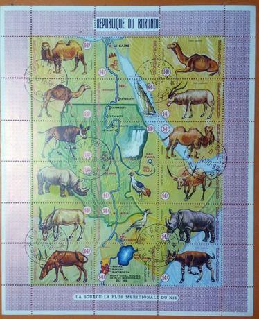 Продам блок марок фауна Бурундии
