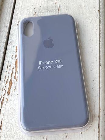 Чехол Silicone Case iPhone XR Lavender Grey серый сиреневый Чохол хр