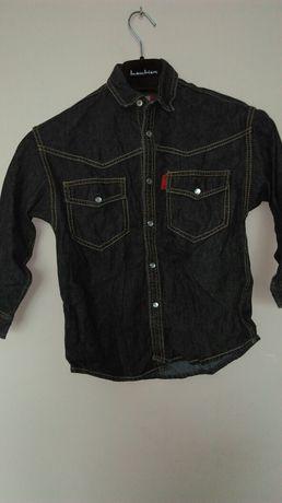 Koszula dzinsowa kurtka jeansowa chłopięca 128/134  134/140