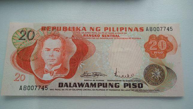 Nota Filipinas 20 PISO 1974 não circulada