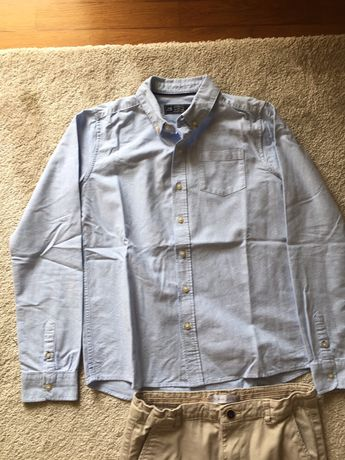 Camisa azul LEFTIES premium tamanho 11/12