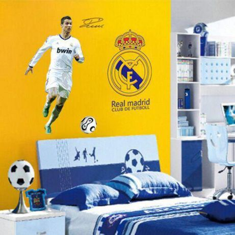 Naklejki na ścianę ścienna Ronaldo Real Madryt piłkarz