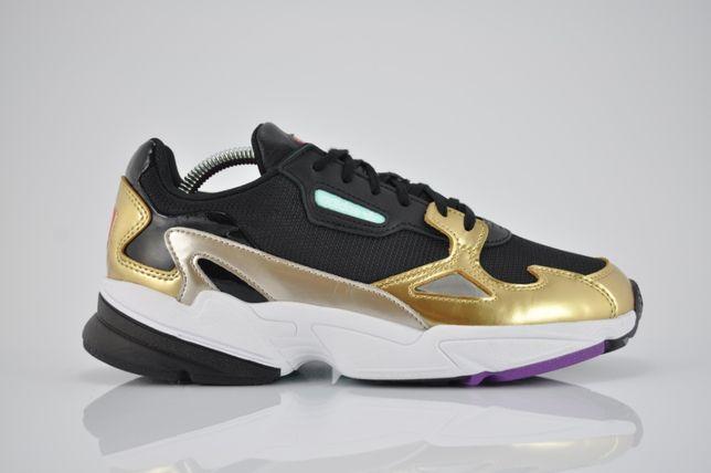 """Adidas W Falcon """"Black/Gold"""" 42 42 2/3 nowe złote sklep PURRFECT"""