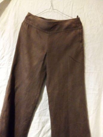 Spodnie lniane brązowe H&m rozmiar 34