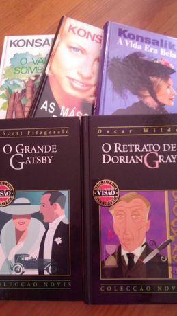 Livros de escitor alemão Konsalik, Oscar Wilde e F. Scott Fitzgerald