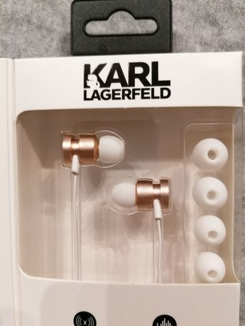 Słuchawki Karl Lagerfeld douszne mini jack 3.5mm mikrofon redukcja