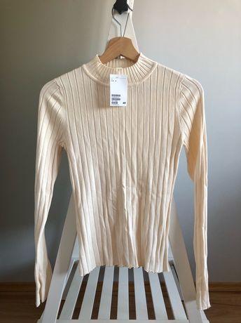 golf off white h&m z metką sweter knitwear rozmiar S 36