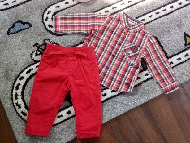 Jak nowy komplet coccodrillo c&a koszula spodnie r 80