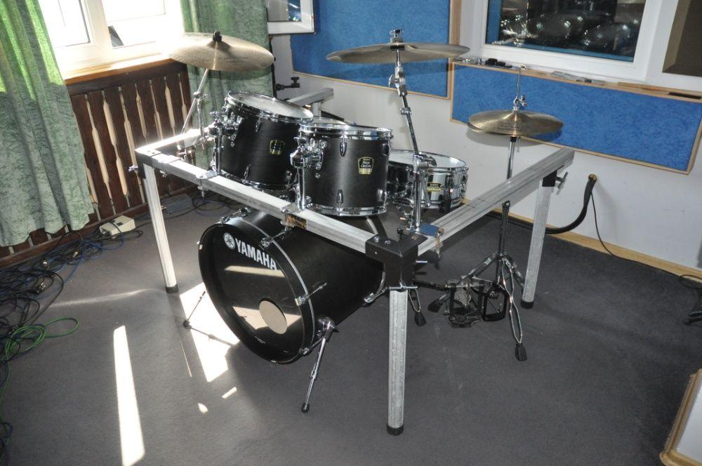 YAMAHA STAGE CUSTOM na ramie+talerze B20+Twin-kompletna perkusja!