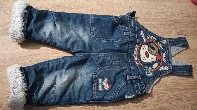 Rozmiar 68 - Ocieplane spodnie oddam za darmo