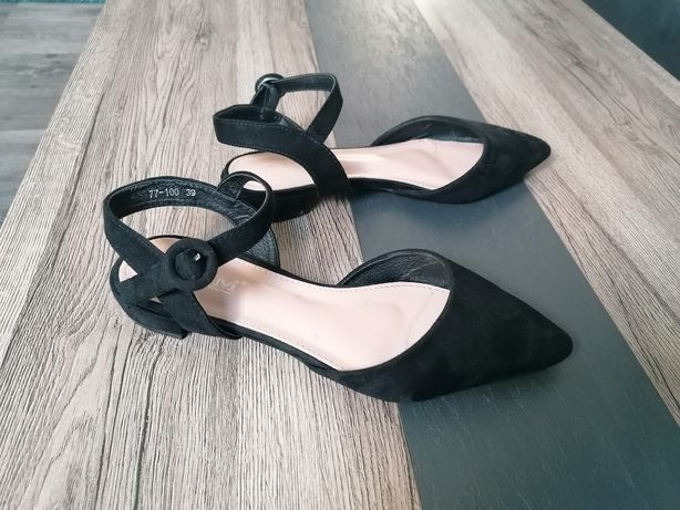 Baleriny czarne szpic